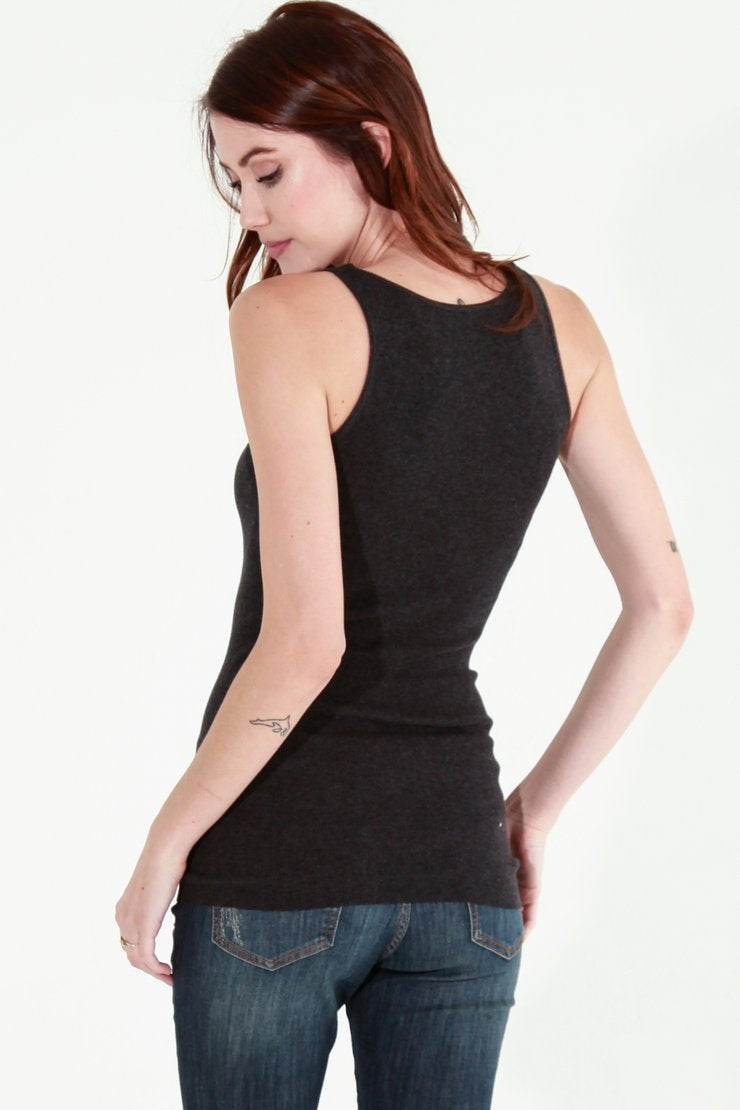 Daily Cotton Rib Tank, Multiple Colors