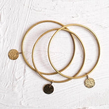 Load image into Gallery viewer, Floos Brass Bangle, Set of 3