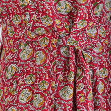 Load image into Gallery viewer, Adelia Red Paisley Print Cotton Swing Dress