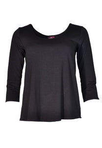 3/4 Sleeve Cora Tee, Solid, Multiple Colors