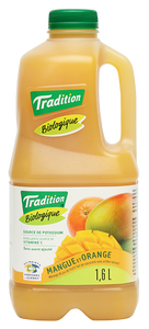 Jus Biologique de Mangue et Orange - 1.6L