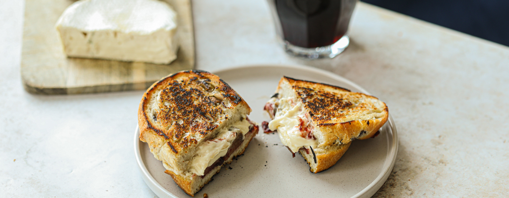 Cranberry, Sham and Bacon Festive Toastie