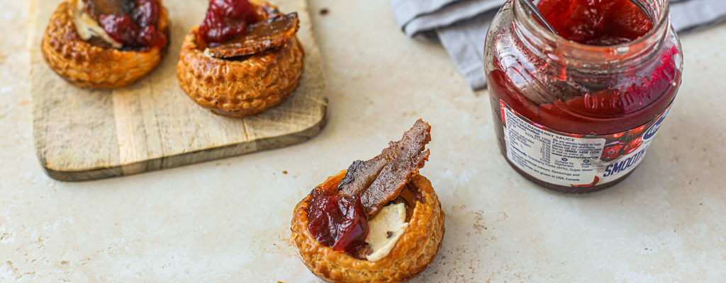 Cheddah, Bacon & Cranberry Christmas Canapes