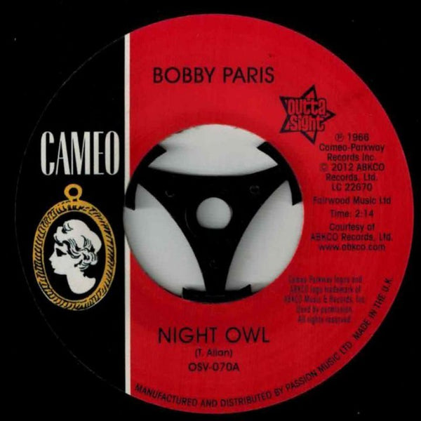 Bobby Paris / Night Owl  (b) Tears On My Pillow