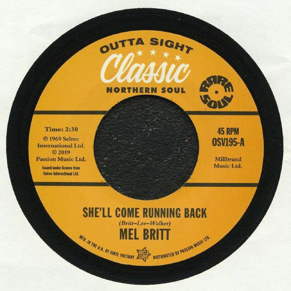 Mel Britt / She'll Come Running Back (b) The Group / I Don't Like To Lose