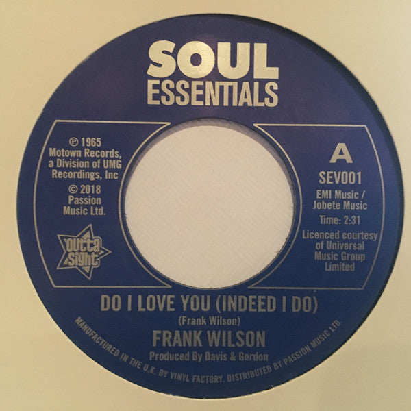 Frank Wilson/Do I Love You (Indeed I Do)  (b) Sweeter As The Days Go By
