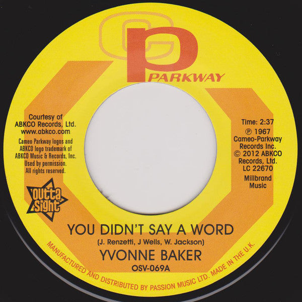 Yvonne Baker/You Didn't Say A Word  (b) Hattie Winston/Pictures Don't Lie