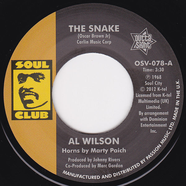 Al Wilson/The Snake  (b) Show And Tell