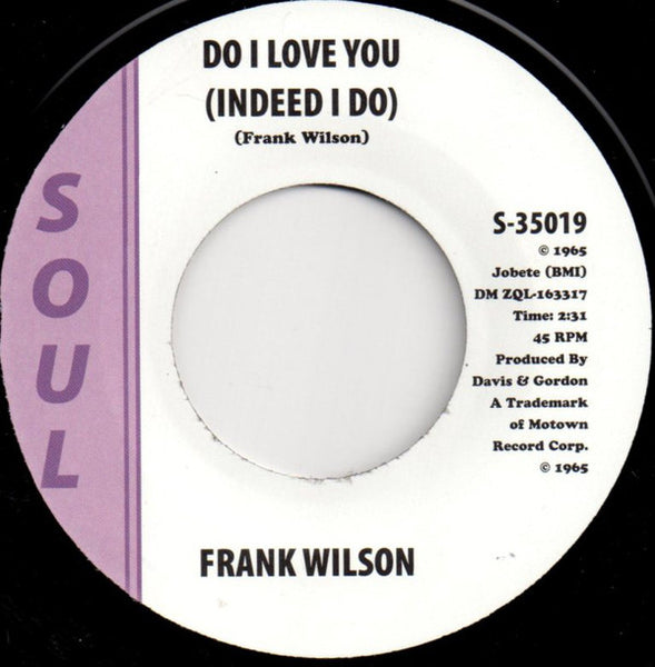Frank Wilson/Do I Love You (Indeed I Do) (b) Instrumental    Generic/EX