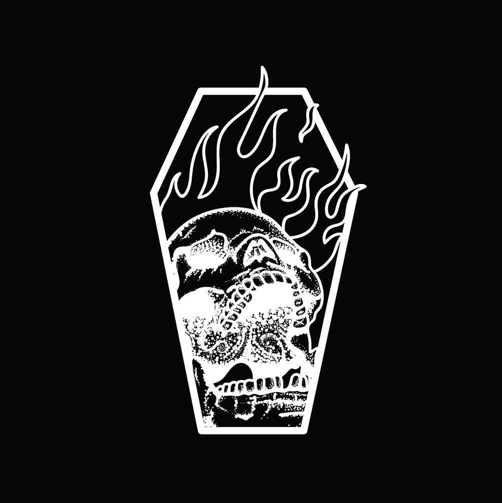 Burning Skull Anxiety Tee