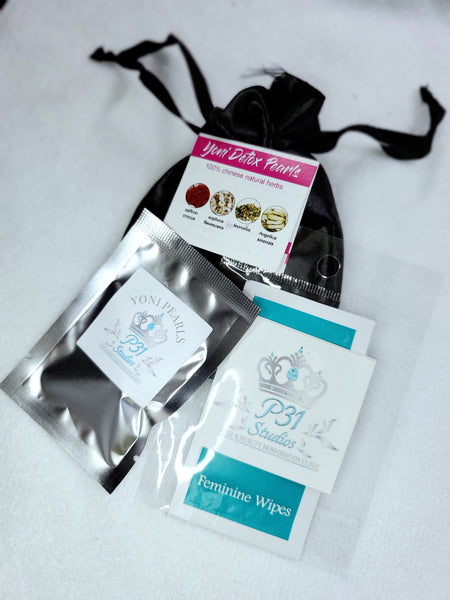Yoni pearls and wipes