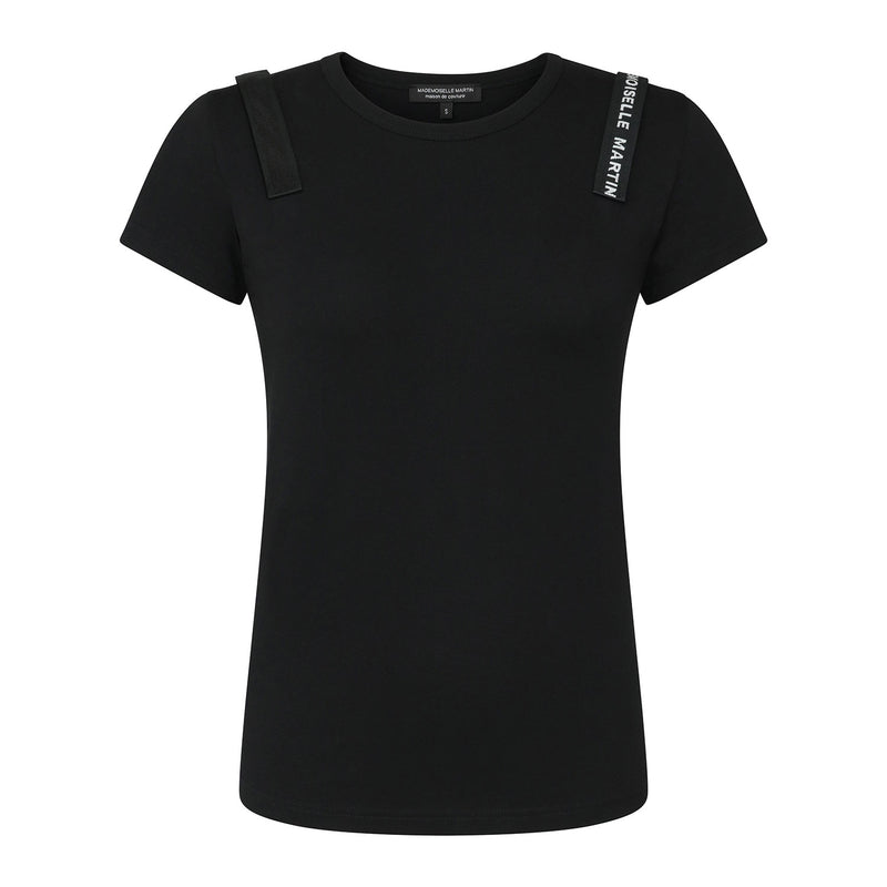 Mademoiselle Martin Black T-Shirt Eco Friendly