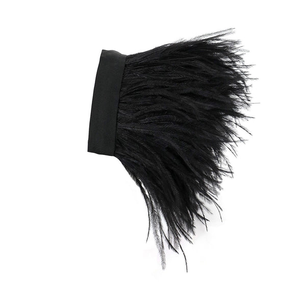 NIKI Black Ostrich Feathers Accessory