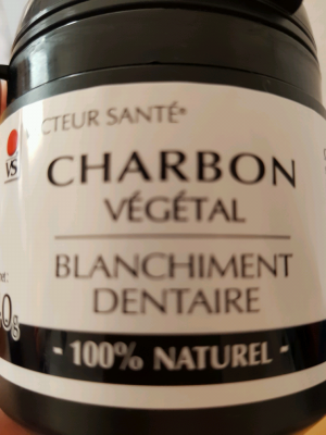 CHARBON VEGETAL BLANCHIMENT DENTS 40G
