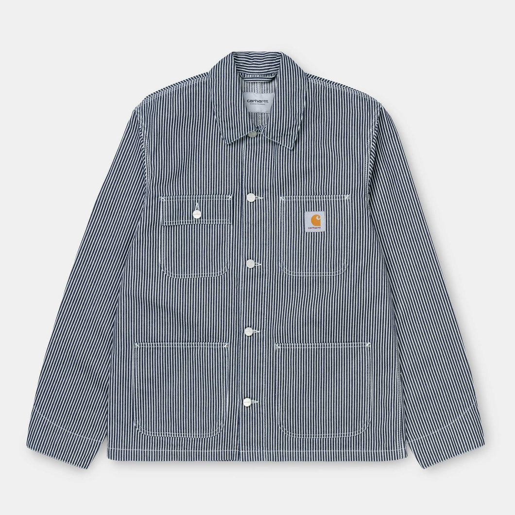 Carhartt - Michigan Coat - 'Hermosa' Hickory Indigo Stripe Denim