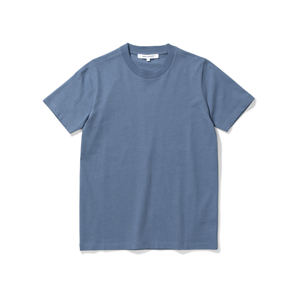 NORSE PROJECTS - Gro Standard Tee - Scoria Blue