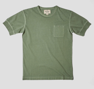 Nigel Cabourn - Warm Up Military Tee - Washed Army