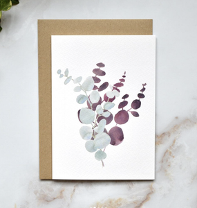 Amelia Durie Studios - Single Christmas Card -Eucalyptus