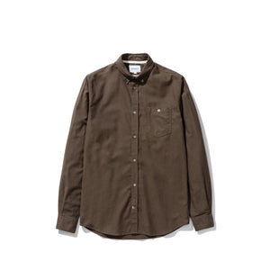 Norse Projects - Anton Brushed Flannel - Dark Green