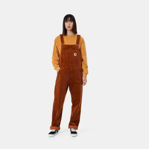 Carhartt - Bib Overall Straight Stretch Corduroy - Brandy (Rinsed)