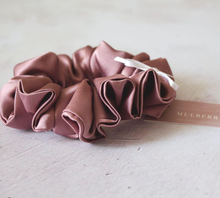Load image into Gallery viewer, Silk Scrunchie - Tea Rose (dusty pink)