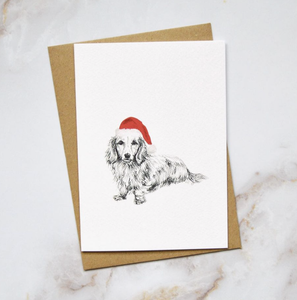 Amelia Durie Studios - Pack Christmas Card - Dog (Dachshund