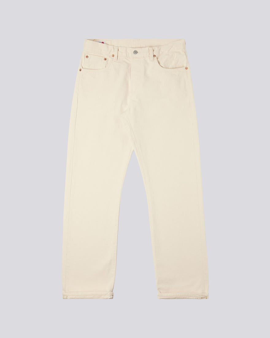 Edwin - Made In Japan - Loose Straight Natural Rainbow Selvage Denim - Rinsed