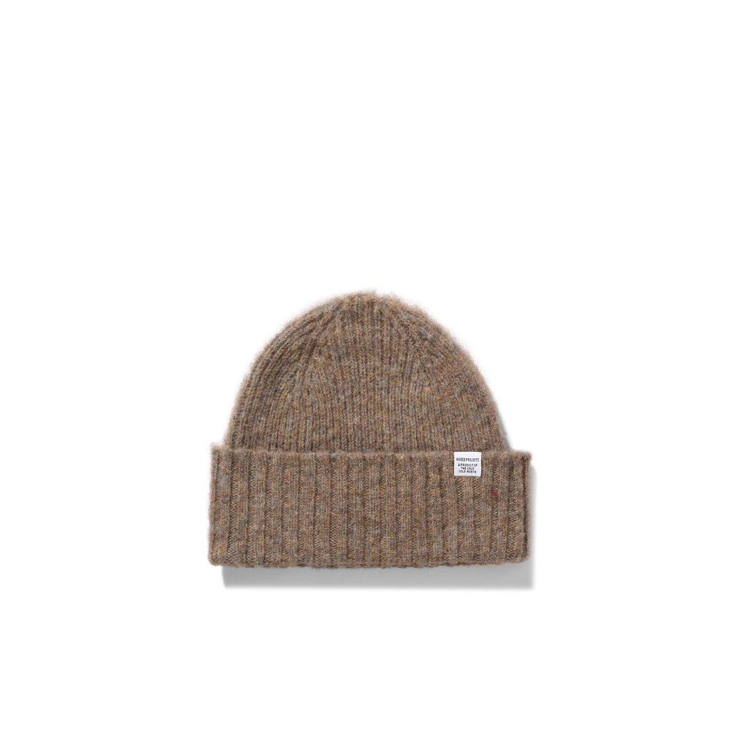 Norse Projects - Brushed Lambswool Beanie - Shale Stone