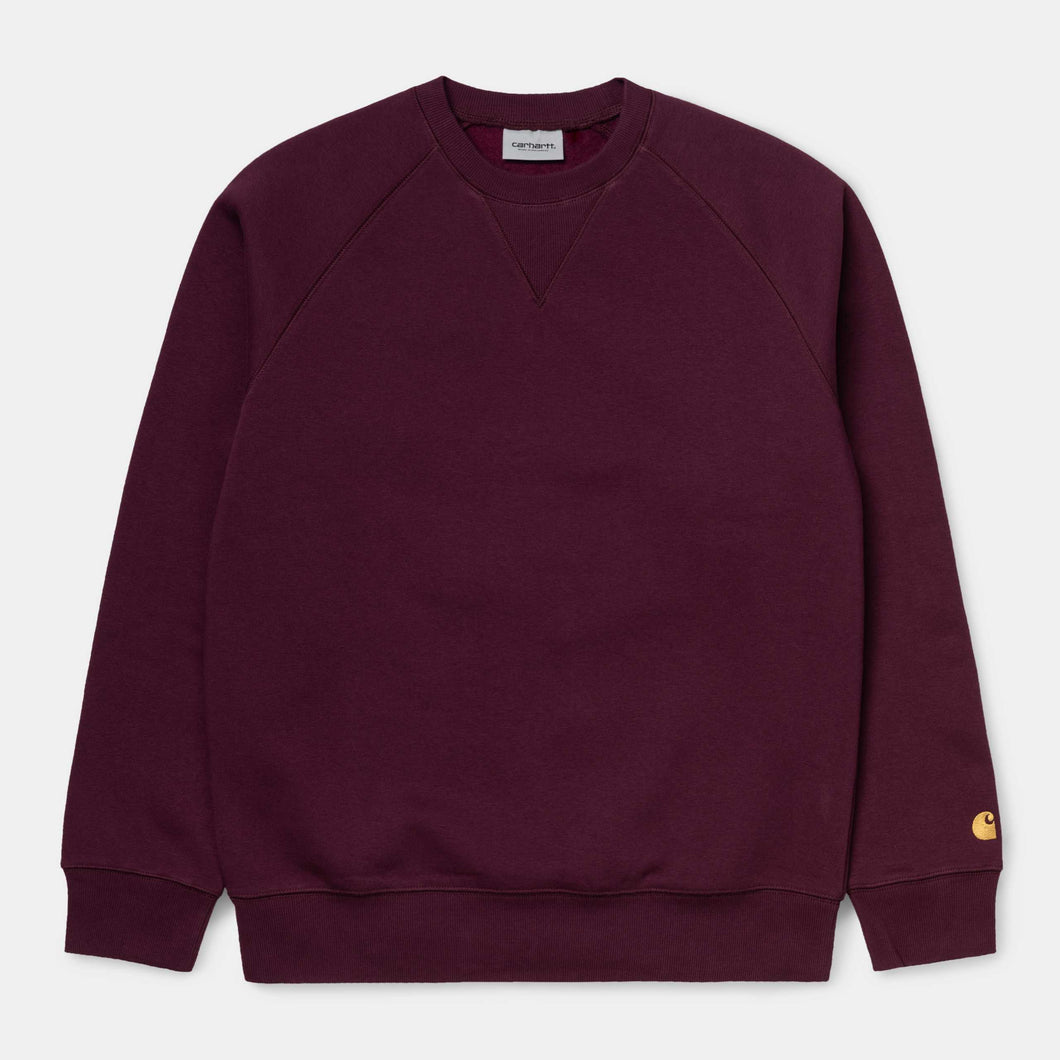 Carhartt - Chase Sweat - Bordeau/Gold