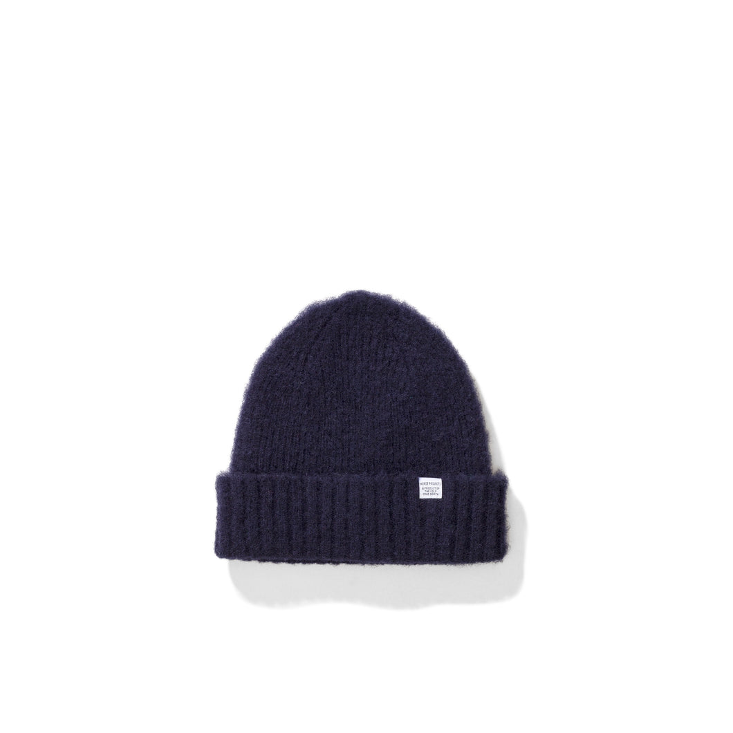Norse Projects - Brushed Lambswool Beanie - Dark Navy