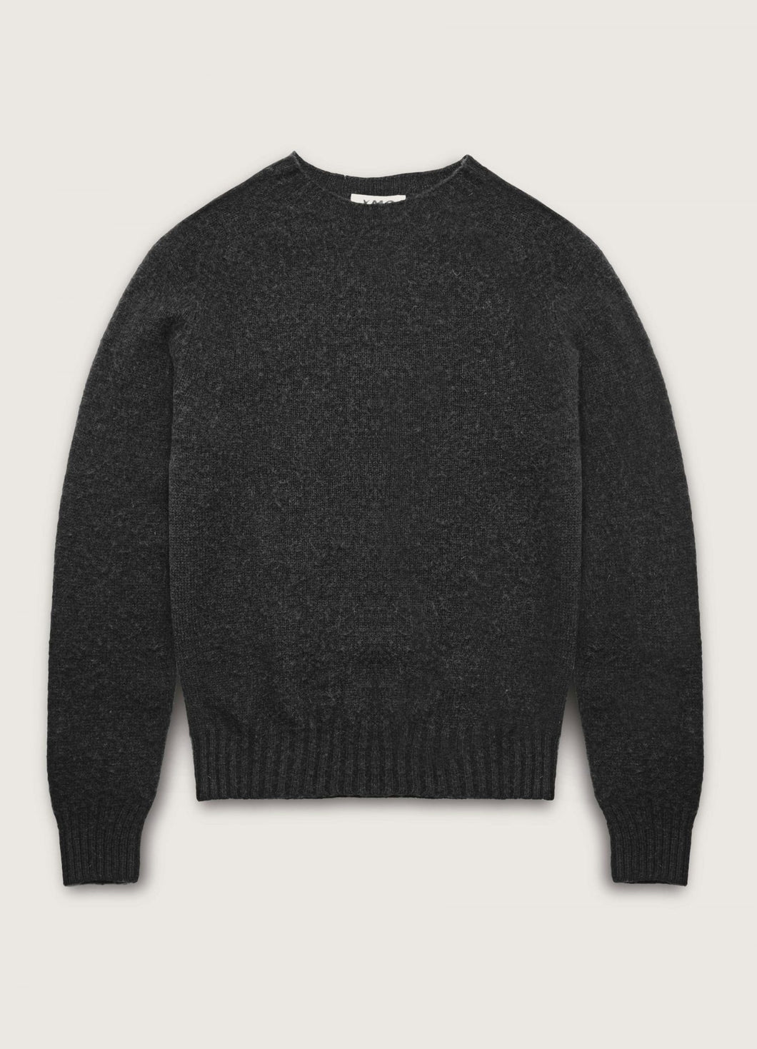 YMC - Suede Head Lambswool Crew - Charcoal