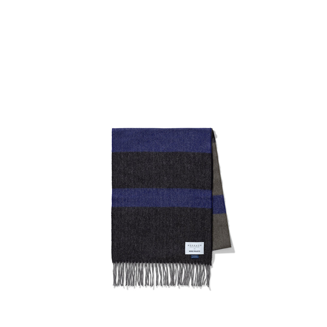 Norse Projects - Norse x Begg & Co Scarf - Twilight Blue