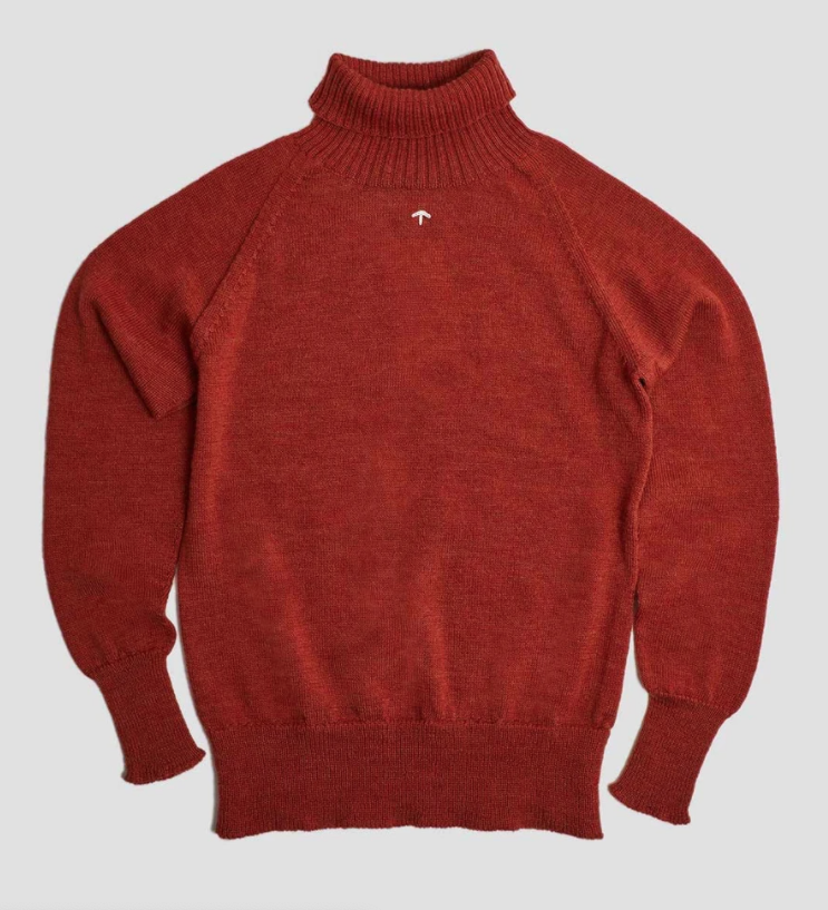 Nigel Cabourn - Seamless Roll Neck - Burnt Orange