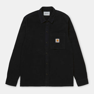 Carhartt - L/S Holston Shirt - Dark Navy (rinsed)