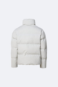 Rains - Boxy Puffer Jacket - Off White