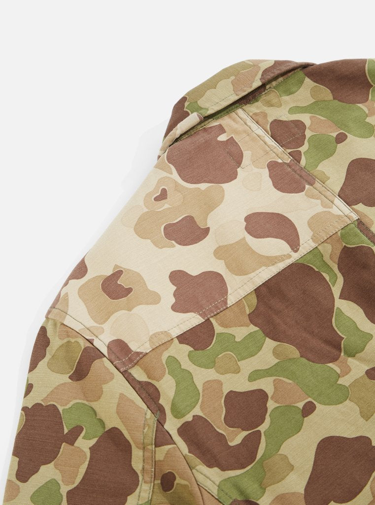 Universal Works - Patched Mill Bakers Jacket - Olive Camo