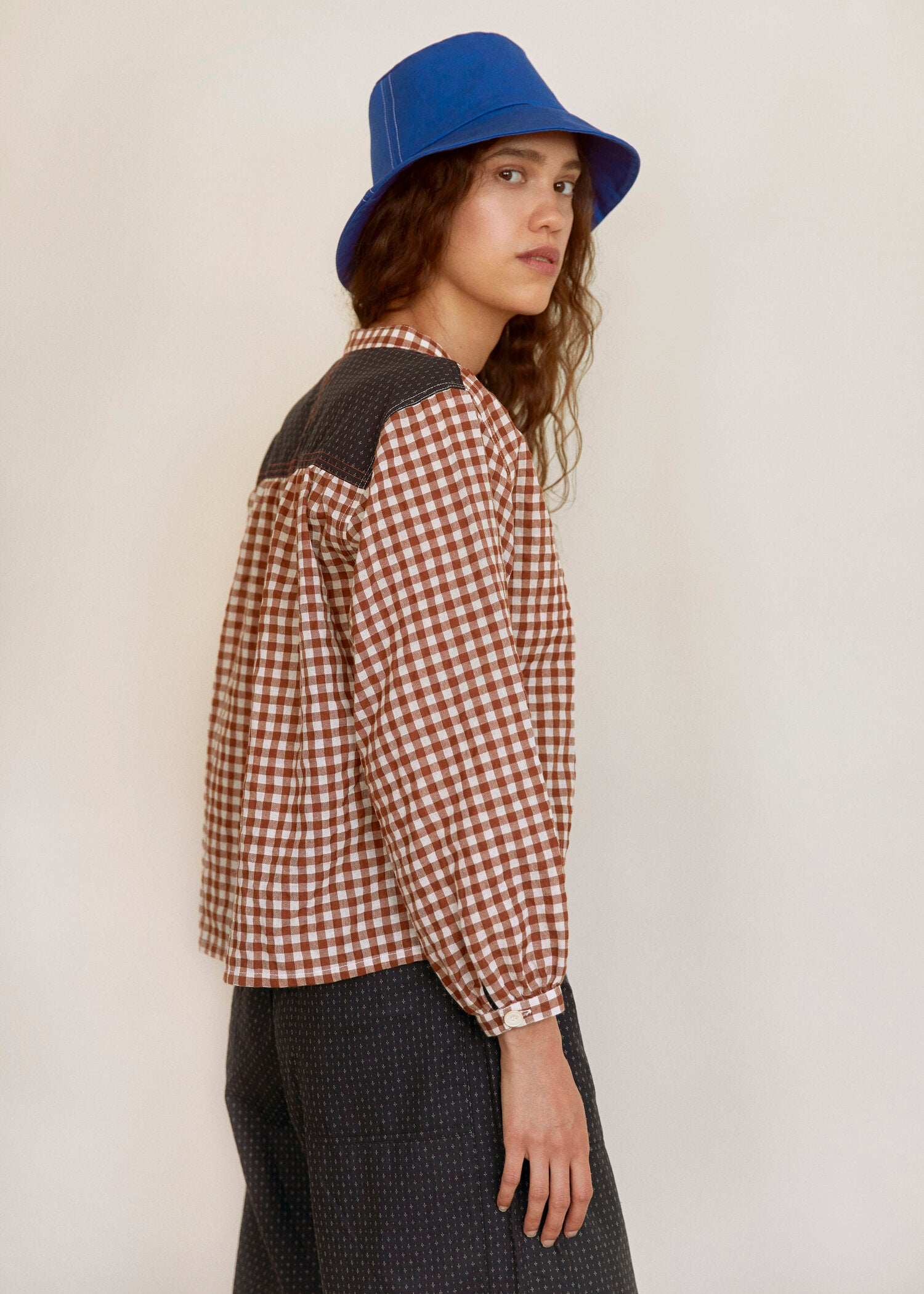 Sideline - May Shirt - Brown Check