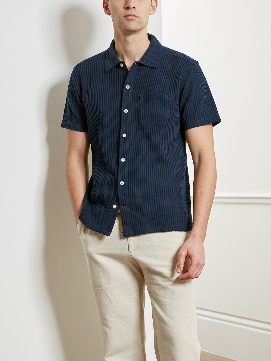 Oliver Spencer - Hawaiian Jersey SS Shirt - Navy
