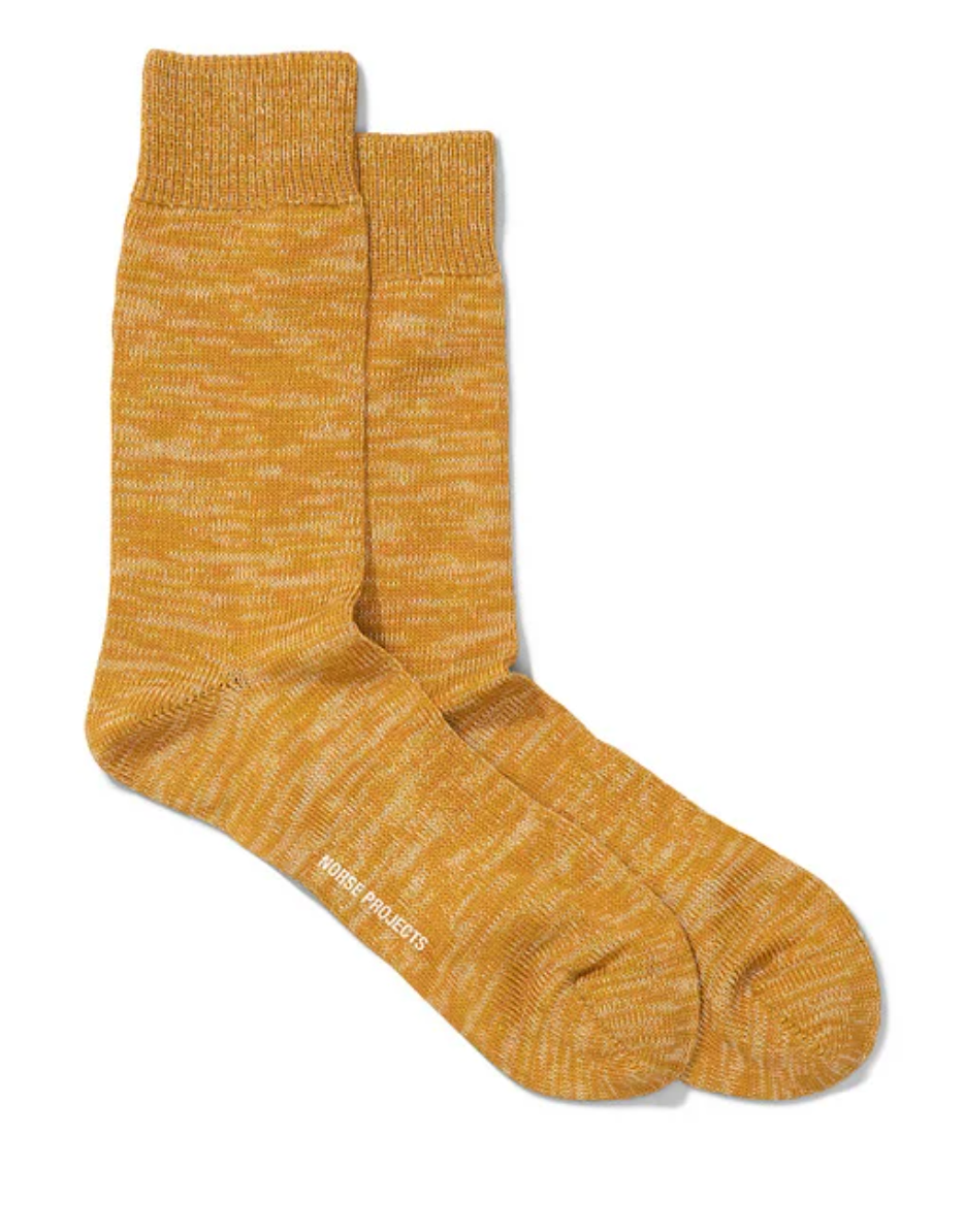 Norse Projects - Bjarki Blend Socks - Montpellier Yellow