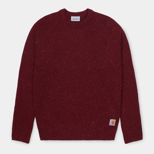 Carhartt - Anglistic Sweater - Bordeaux Heather