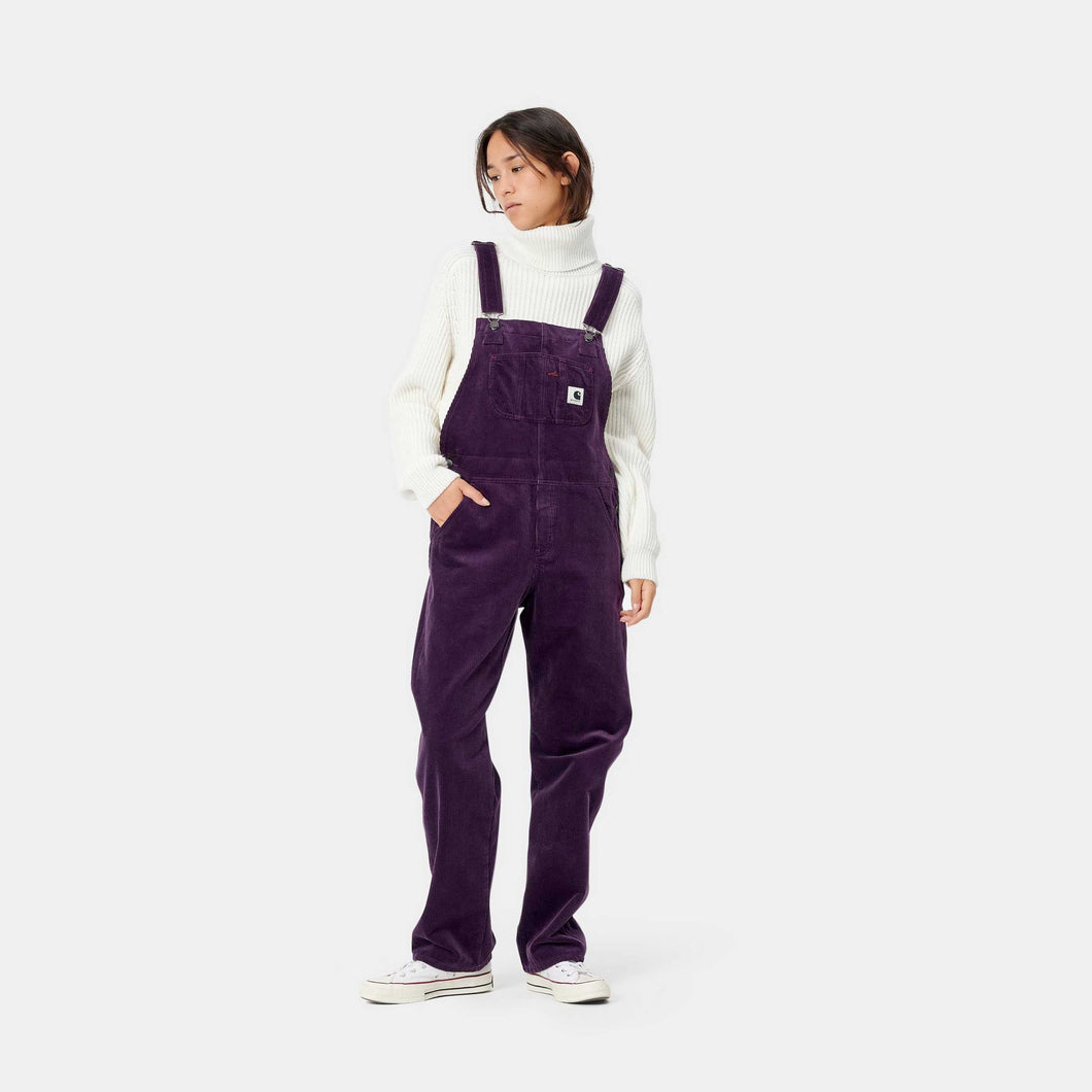 Carhartt - Bib Overall Straight Stretch Corduroy - Boysenberry (rinsed)