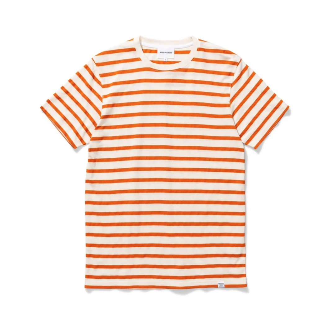 Norse Projects - Niels Pique Stripe - Golden Orange
