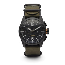 Load image into Gallery viewer, Filson - Chronograph Watch - Black / Olive Strap