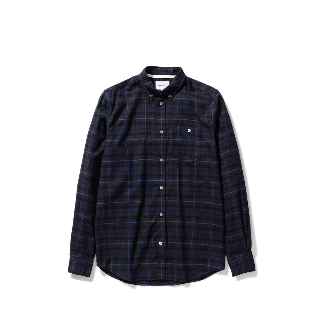 Norse Projects - Anton Brushed Flannel Check - Navy Check