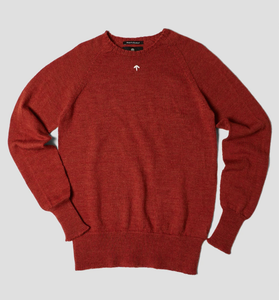 Nigel Cabourn - Raglan Crew Neck - Burnt Orange