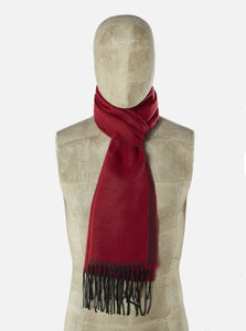 Universal Works - Double Sided Scarf - Burgundy/Red