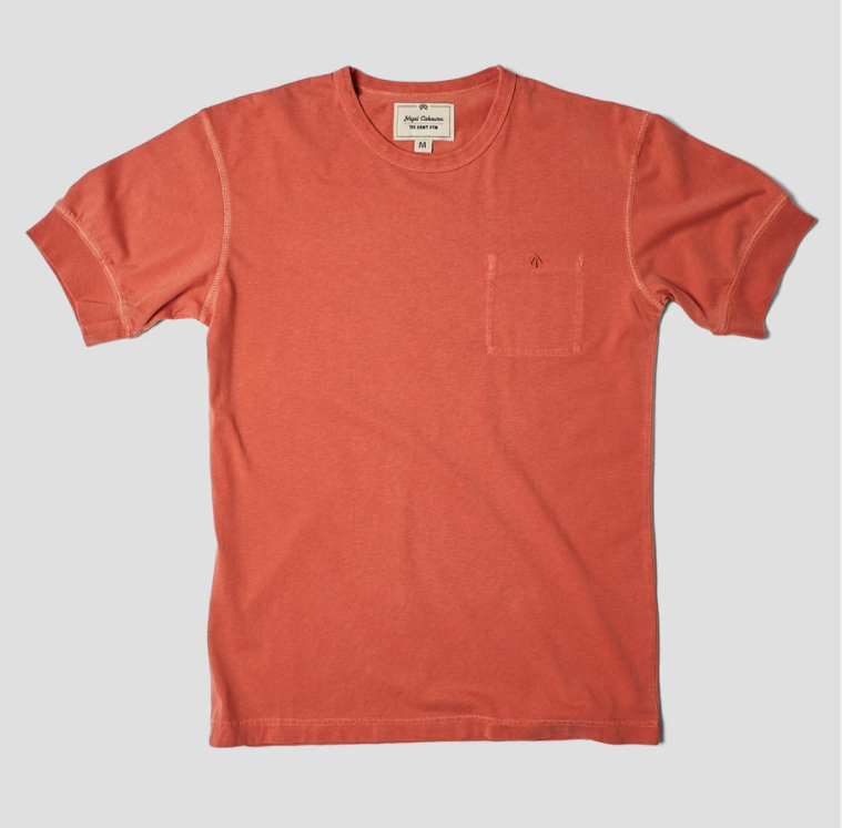 Nigel Cabourn - Warm Up Military Tee - Washed Orange