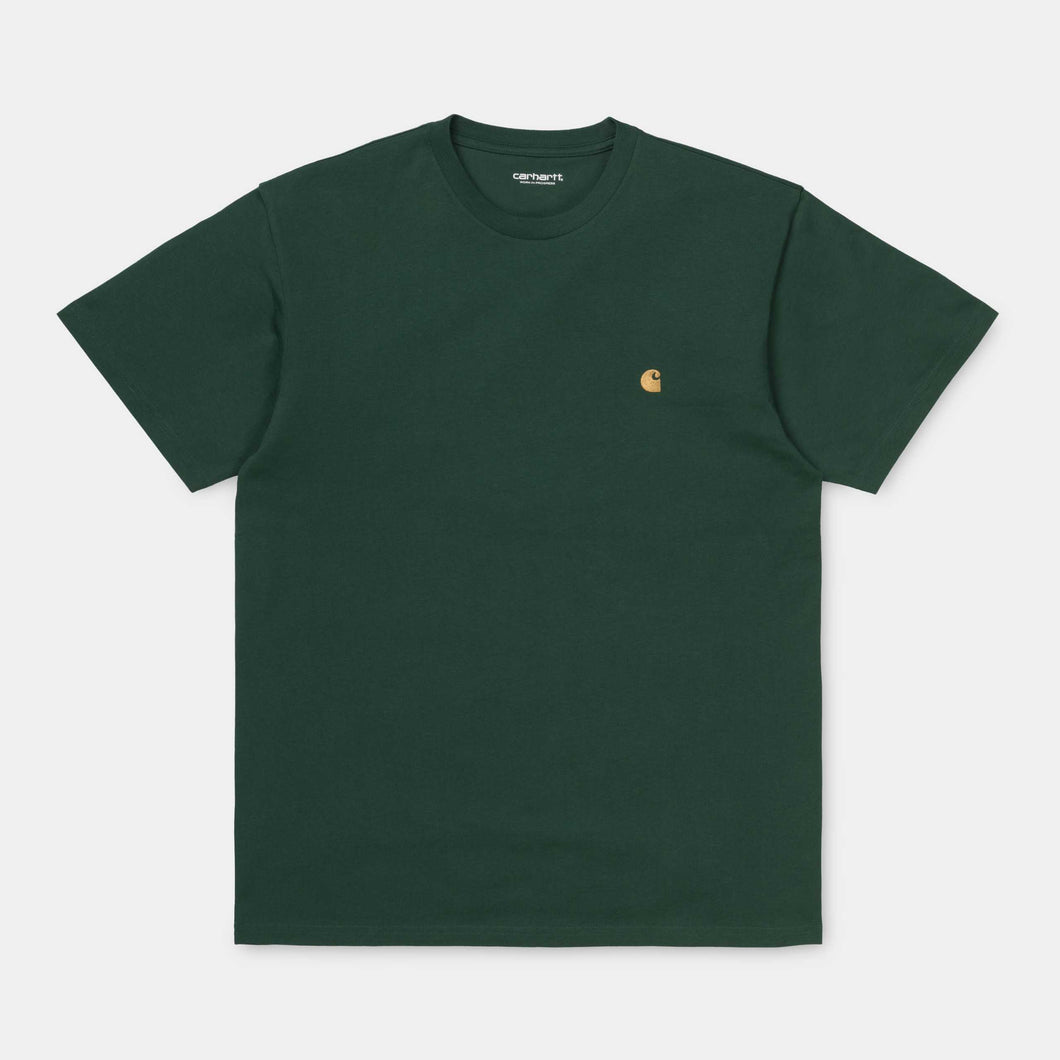 Carhartt - S/S Chase T-Shirt - Dark Teal/Gold