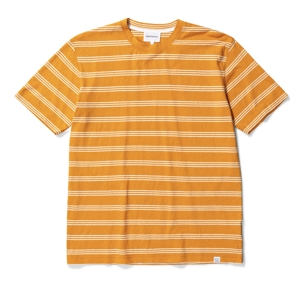 Norse Projects - Johannes Cotton Linen - Cadmium Orange