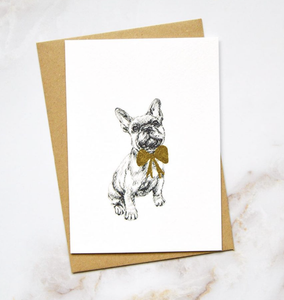 Amelia Durie Studios - Pack Christmas Card - Dog (French Bulldog)